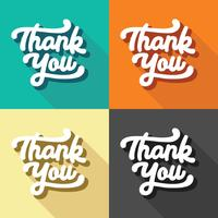 Thank You Retro Typography  vector