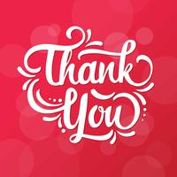 Romantic Thank You Lettering Typography vector