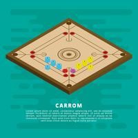 Isometric Carrom Vector Illustration