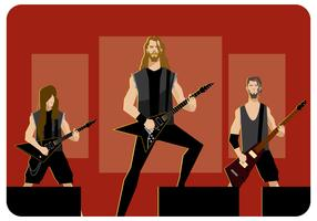 Metal Band op fase Vector