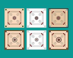 Carrom Boards Vector