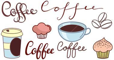 Koffie winkel logo vectoren