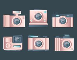 Rosegold Camera Vector Set