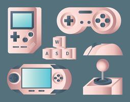 juego de vector de controlador de juego rosegold