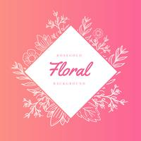 Rosegold Floral Vector Background