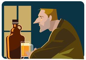 Sozinho no Bar Vector