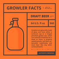 Growler Facts and Isolated Label vector
