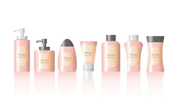 Rosegold bodylotion Vector