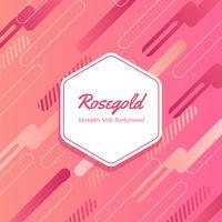 Rosegold Memphis Art Vector Background