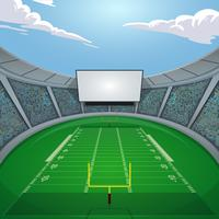 American Footbal Field Jumbotron Vector Illustration