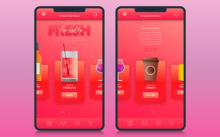 High Detailed Realistic  Rosegold Drink Order Application