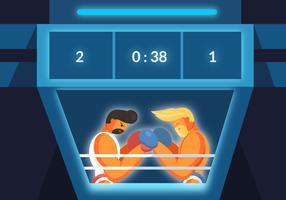 Jumbotron In Match Vector