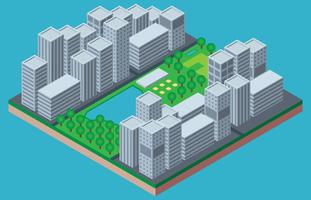Central Park New York Isometric Illustration