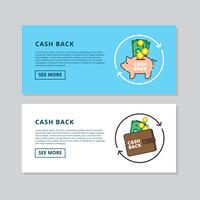 Cash Back Banner Vector