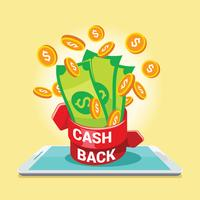 Digitale Zahlung oder Online-Cashback-Service