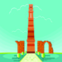 Illustration vectorielle de Qutab Minar à Delhi