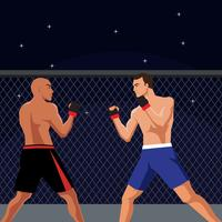 ultimate fighting vector illustration