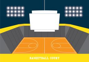 Jumbotron sur le terrain de basket