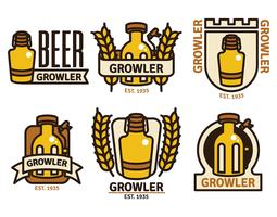 Growler Badge Vector Set