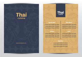 Thai Elephant Ornament Menu vector