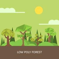 Flat Low Poly Vector Illustration