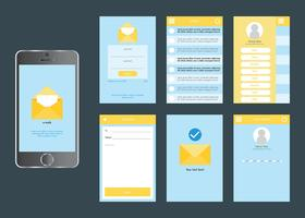 Mobile App Gui Vector Set