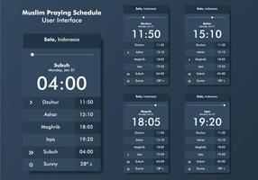 Muslim Praying Reminder UI