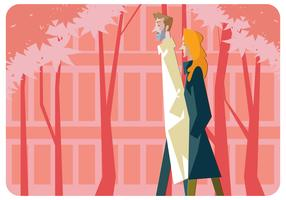 Springtime Couple Vector