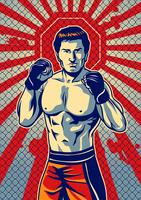 Ultimate Fighting Player vector