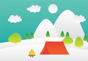 Paper Art Paysage de montagne