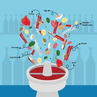 Hotpot With Ingredient illustration
