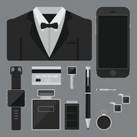 Tux for Groom. Male Wedding. vector
