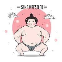 Sumo Wrestler Vector Illustration