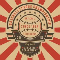 Vectores icónicos de béisbol de la vendimia
