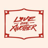 Love One Another Hand Letter Typography