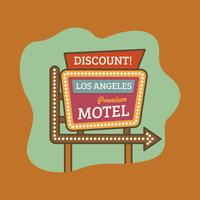 Vintage Los Angeles Motel Banner