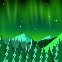 Paisaje de luces del norte