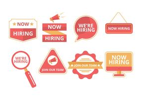 Free Hiring Badges Vector Collection