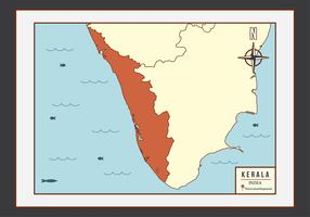 Kerala kaart illustratie Vector