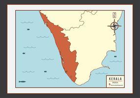 Kerala Map Illustration Vector