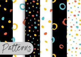 Colorful Brush Pattern Set