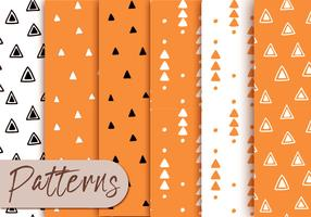 Orange Triangle Pattern Set