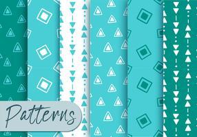 Blue Geometric Pattern Set