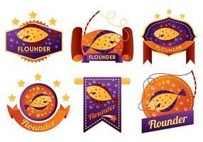 Flounder Vector Badges