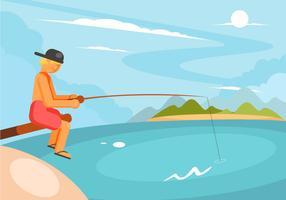 Vector de poste de pesca