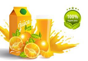 Vetor de suco de clementina
