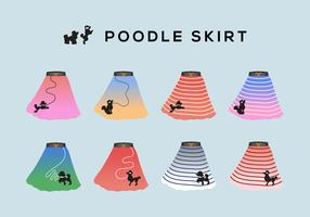 Poodle Skirt Vector Collection