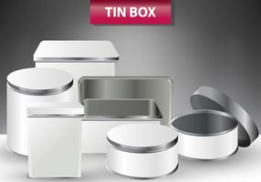 Set Of Tin Box Templates