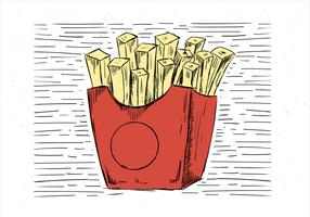 Hand Drawn Vector Fries Illustration