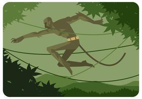 vettore del ragazzo della scimmia